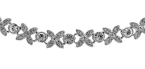 Oliver Weber 8183 Rhodium Plated Metal Swarovski Crystal Ladies' Collier 38cm + 2.5cm extender