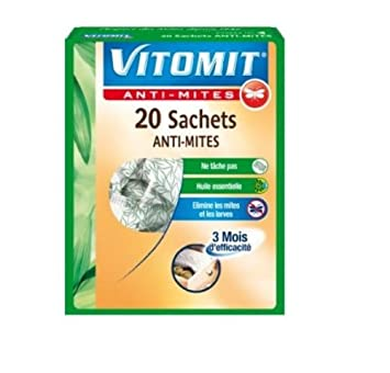 Vitomit - Sachets Anti-Mites x 20 Tests Actus, Bons plans, Acheter 1
