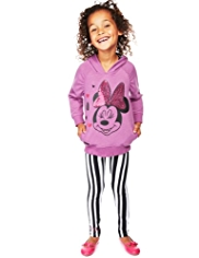 2 Piece Minnie Mouse Hooded Top & Leggings Outfit