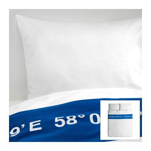 Ikea Lisel Queen Duvet Cover And Pillowcases, White