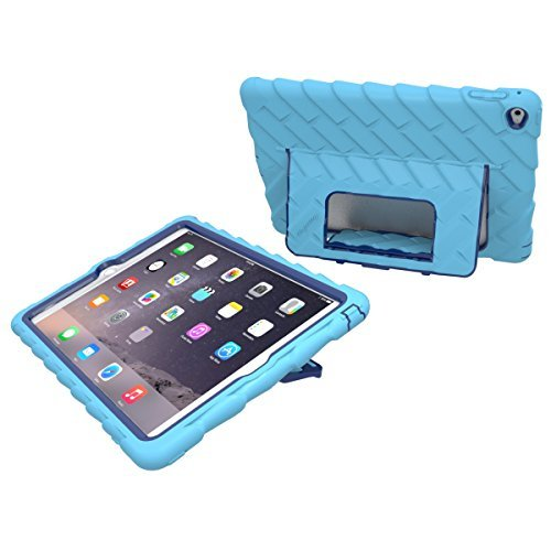 Apple iPad Air 2 Hideaway with Stand Light Blue Gumdrop Cases Silicone Rugged Shock Absorbing Protective Dual Layer Cover Case (Ipad Blue Case compare prices)