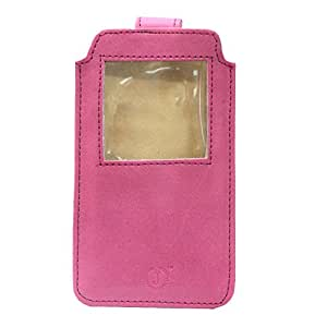 Jo Jo A10 Nillofer Leather Carry Case Pouch Wallet S View For Xolo Q1020 Exotic Pink