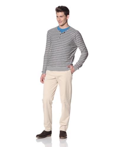 Vince Men's Cotton Slub Striped Henley