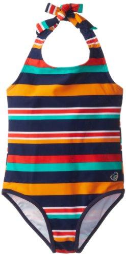 Skechers Little Girls' Watersports Natalie One Piece Swimsuit, Multi Stripe, 5 front-987755