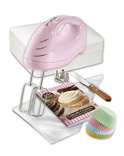 Hamilton Beach 62666 Cupcake Creations Hand Mixer with Decorating Kit and Storage Case (Hand Mixer Color compare prices)