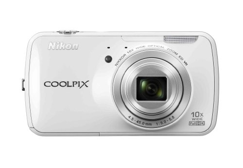 Nikon COOLPIX S800c 16 MP Digital Camera with 10x Optical Zoom and built-in Android Operating System (White)