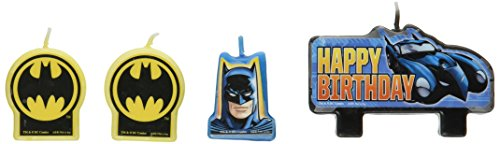 Amscan AMI 171386 Batman Candle Set, AMI 171386 1, Multicolored - 1