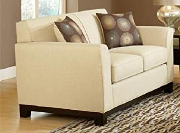 Chelsea Home Furniture Clark Loveseat, Dum Dum Natural