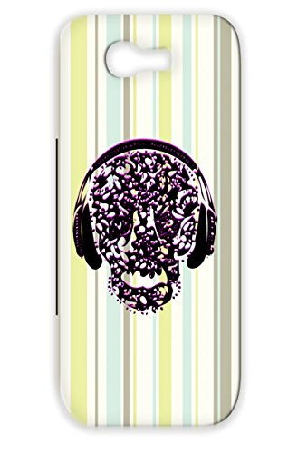 Tpu Purple Cool Vin Abstract Vintage Skull On Headphones Conceptual Music Design Rocker Listening To Music Rocking Rock Metal Case For Sumsang Galaxy Note 2 Vintage Skull Listening