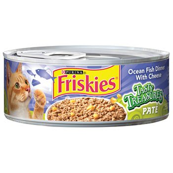 Friskies Tasty Treasures Ocean Fish Dinner With Cheese