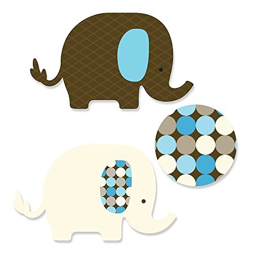 Blue Baby Elephant - DIY Shaped Party Cut-Outs - 24 Count - 1