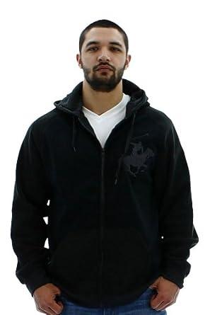 Beverly Hills Polo Club Men's Hoody Full Zip Sweatshirt Black Size L