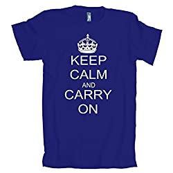 Keep Calm and Carry on Vintage World Peace Retro American Apparel T-Shirt