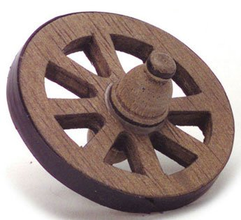 Dollhouse 1 3/4 INCH WAGON WHEEL - 1