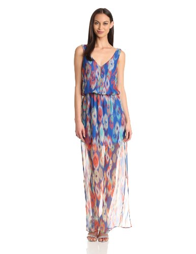 Rory Beca Women's Printed Double V-Maxi Dress, Fenix, Small