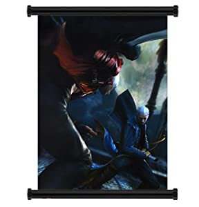 """Devil May Cry Anime Game Fabric Wall Scroll Poster (16"""" x 22"""") Inches"""