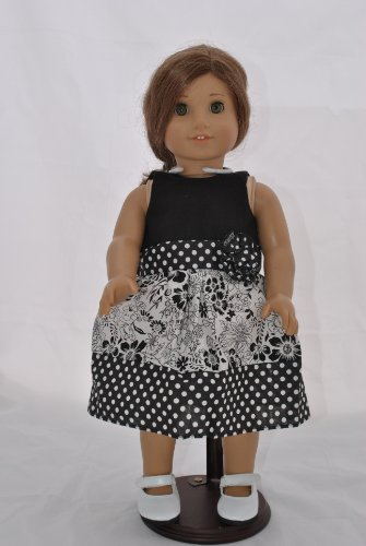 "Unique Doll Clothing Black and White Dress for 18"" Including The American Girl Line Doll (Shoes Not Included)"