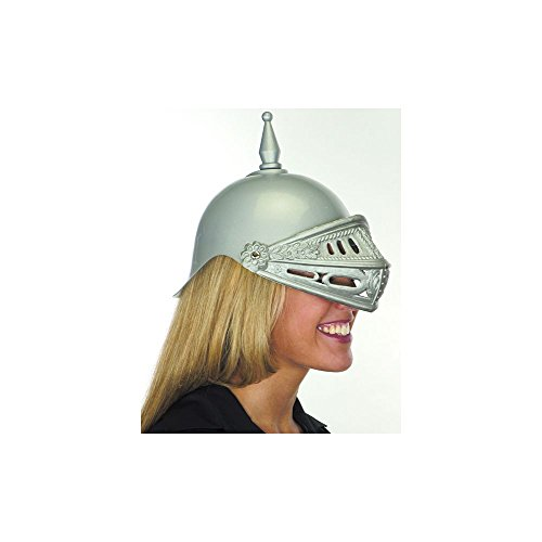 Jacobson Hat Company Men's Plastic Knight Helmet, Silver, Adult