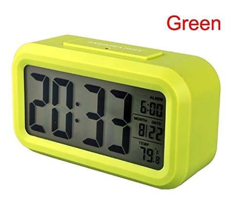 Tp Sky Night Light Digital Alarm Clock With Calendar Thermometer (Green)