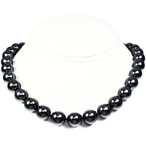 Mother of Pearl Necklace - High Polished Grayish Black (12mm)