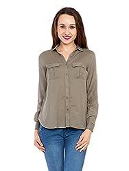 Kridh Women's Casual Shirt (skpc1002_ Grey_ Medium)