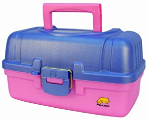 Plano Two Tray Tackle Box (Perwnkl/Pink)
