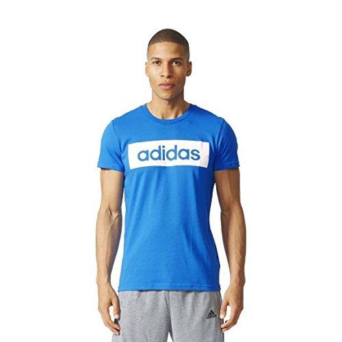 Adidas Lin Tee Maglia per Uomo - Blu (Blu) - S