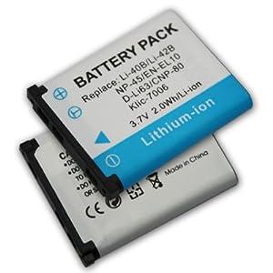 2P Battery for Olympus D-630 Zoom FE-150 FE-160 FE-190 FE-20 FE-220 FE-230 FE-240 FE-250 FE-280 FE-290 FE-300 FE-3000 FE-3010 FE-320 FE-330 FE-340 FE-350 FE-360 FE-4000 FE-4010