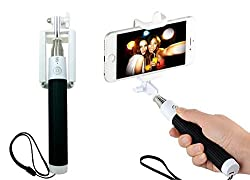 Selfie Stick Bluetooth Monopod - Solo Stick Premium - Built-in Bluetooth Shutter Button - Fits All Phone Sizes including iPhone 6S Plus and Samsung Galaxy Note 5 (Black)
