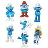 "2011 THE SMURFS MOVIE 1.5"" INCH FIGURINES SET OF 7 FIGURES"