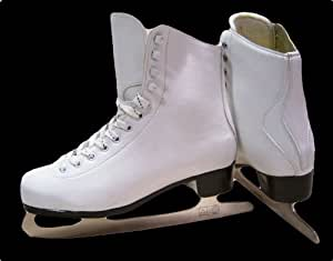 White Ice Skates - Ice Skating Boots For Ladies Size 43