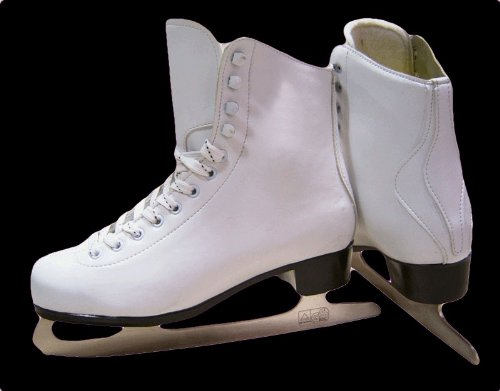 White Ice Skates - Ladies Ice Skating Boots Size 37 (Other Sizes Available)
