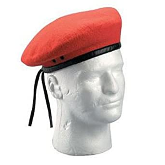Red Military Beret Size 6.75