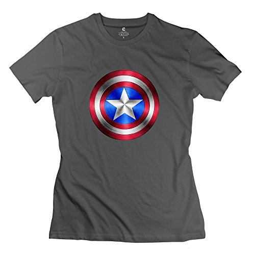 Women Captain America Logo Design Cool DeepHeather T-Shirts By Mjensen