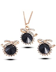 YouBella Presents Gracias Collection Crystal Jewellery Necklace Set / Pendant Set With Earrings For Girls And...