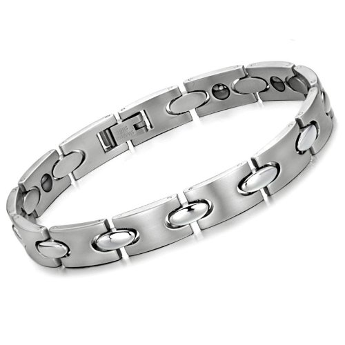 Opk Jewellery Fashion Stainless Steel Bracelet For Cool Men Wristband Chains With Magnetic Stone