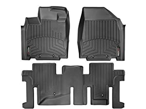 2013 Infiniti JX Black Weathertech Floor Liner (Full set: 1st and 2nd Row)