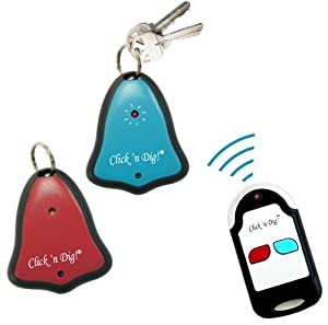Click 'N Dig! Key Finder. 2 Receivers. Wireless RF Item Locator Remote, Wallet, Keyfinder. (Free Extra Batteries) New Model: D2