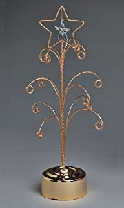 Star Christmas Ornament Stand Revolving with 12 Hanging Arms