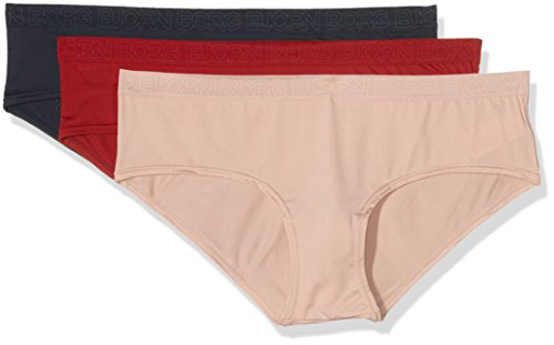 bjorn-borg-womens-seasonal-solids-pack-of-3-hipster-multicoloured-rio-red-26-manufacturer-sizesmall