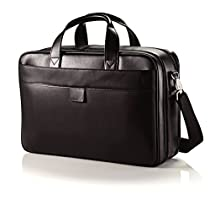 Hartmann Heritage Double Compartment Leather Business Case in Black