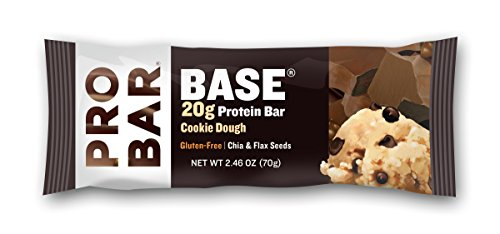 PROBAR BASE Protein Bar, Cookie Dough, 2.46 Ounce (Pack of 12)