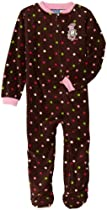 Baby Togs Girls 2-6X Brown Blanket Sleeper With Multi-Colored Dots with Cat Chat Graphic, Brown, 2
