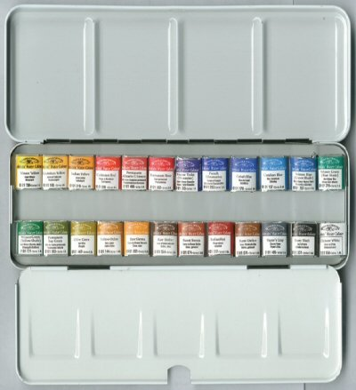 Winsor & newton artists watercolour lightweight metal sketchers box