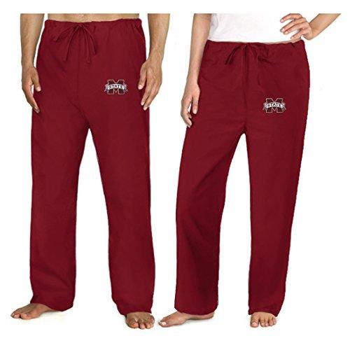 Mississippi State University Scrubs Bottoms Pants -Size Lg- Mississippi State M front-917499