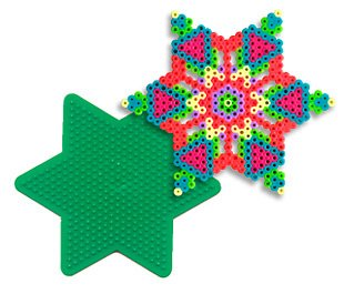Large Star Pegboard for Perler Fuse Beads