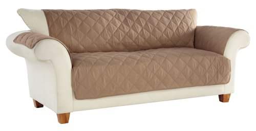 Tailor Fit Diamond Quilted Microsuede Machine Washable Furniture Sofa Protector, Stonewear