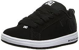 DC Court Graffik Se Sneaker (Little Kid/Big Kid),Black/Black,6 M US Big Kid
