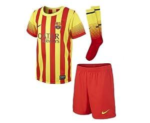 2013-14 Barcelona Away Nike Little Boys Mini Kit by Nike
