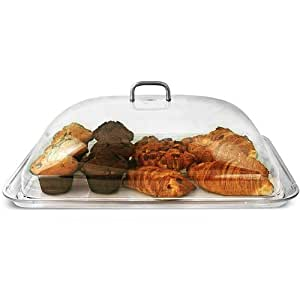Polycarbonate Rectangular Cake Dome with Tray (Tray and Cover)